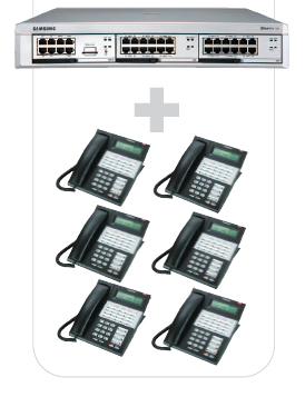 OfficeServ7100 6-Phone Package with Voice Mail